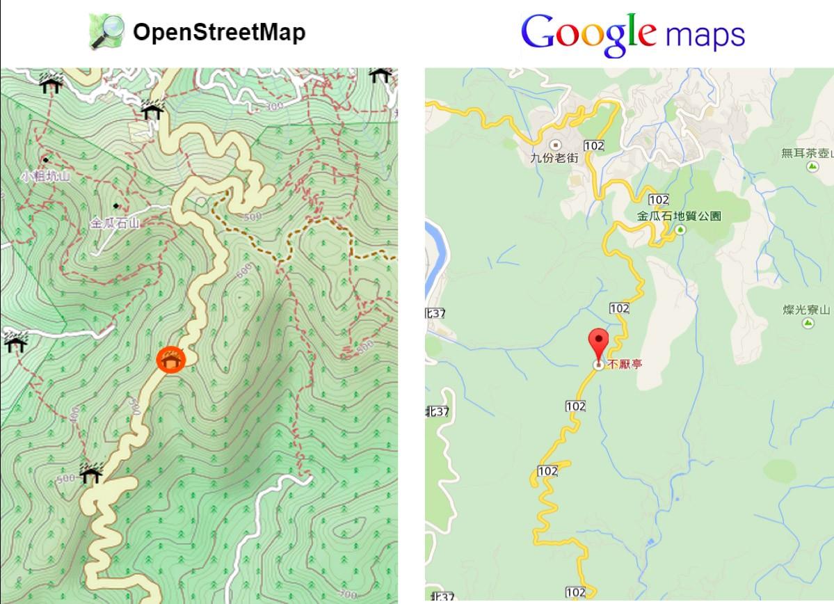 相較於Google Map,OpenStreetMap 讓車友可以編輯地圖,並且開放共用。