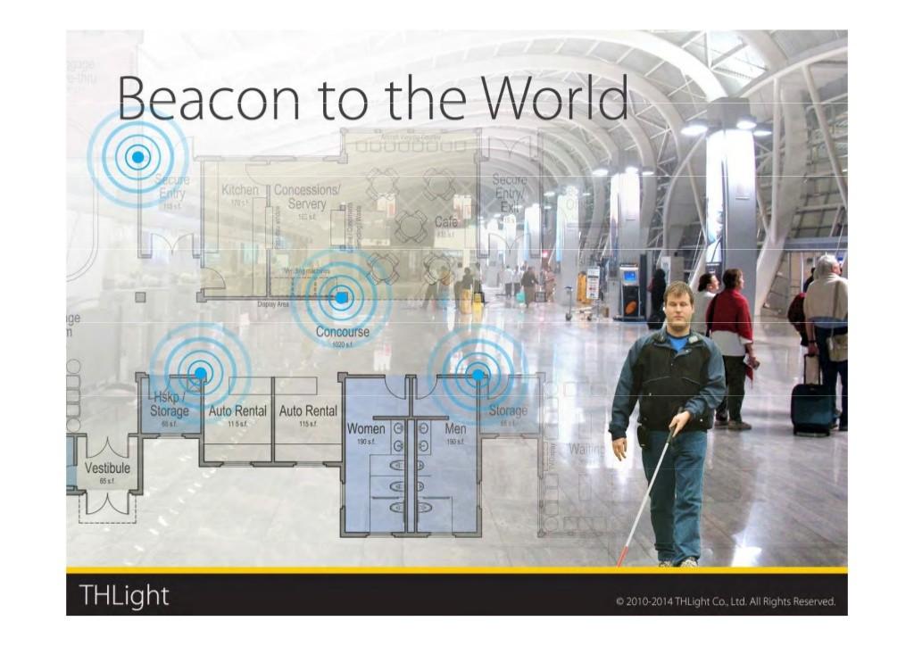 吉正然希望到處都有iBeacon,用這網路來打造真正無障礙的盲人空間。