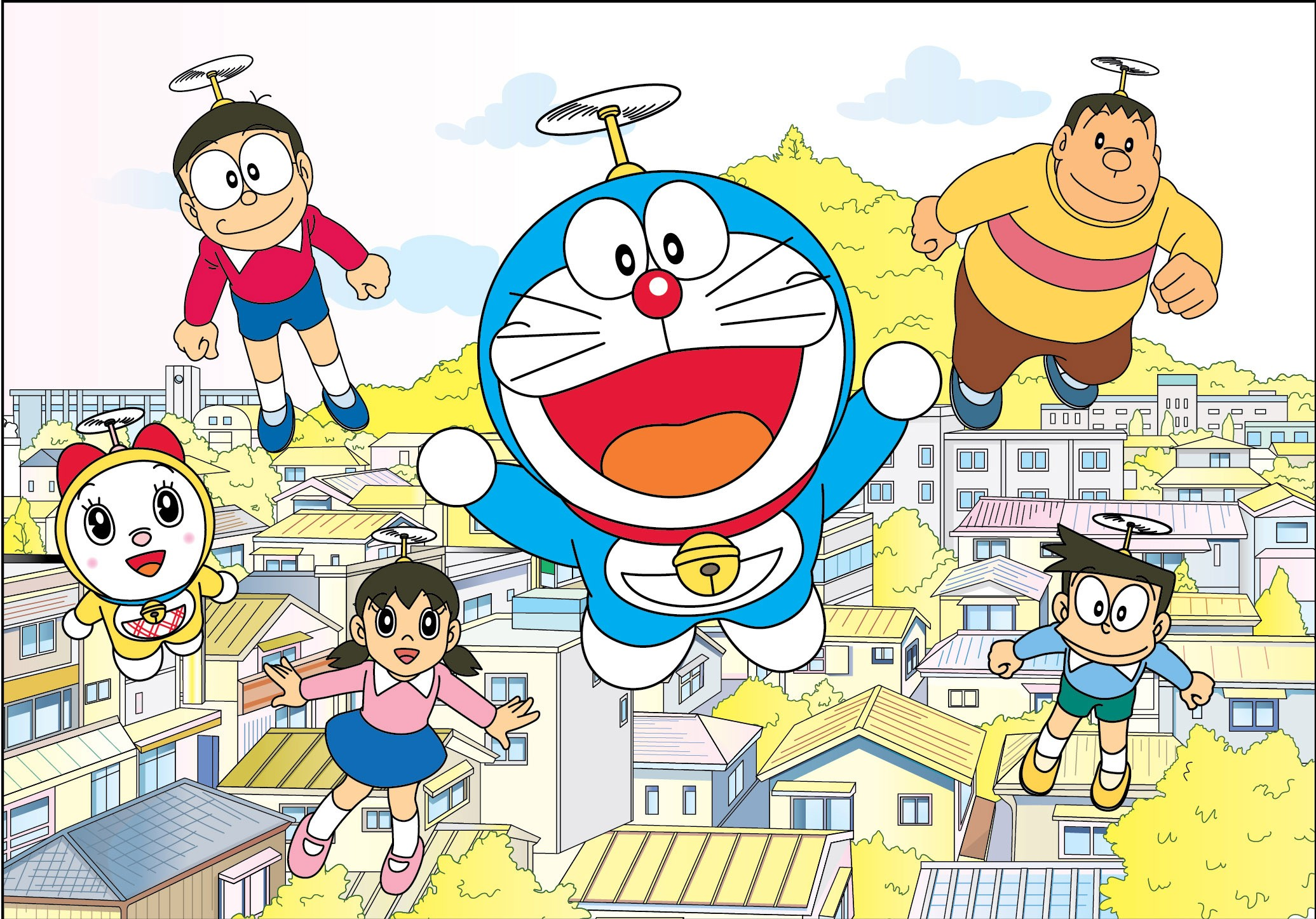 一部描述從未來回來幫助小時候的主人並且總是能拿出許多未來道具的機器貓的卡通影集。