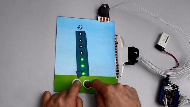 使用者點擊按鈕,去控制是否將燈點亮。