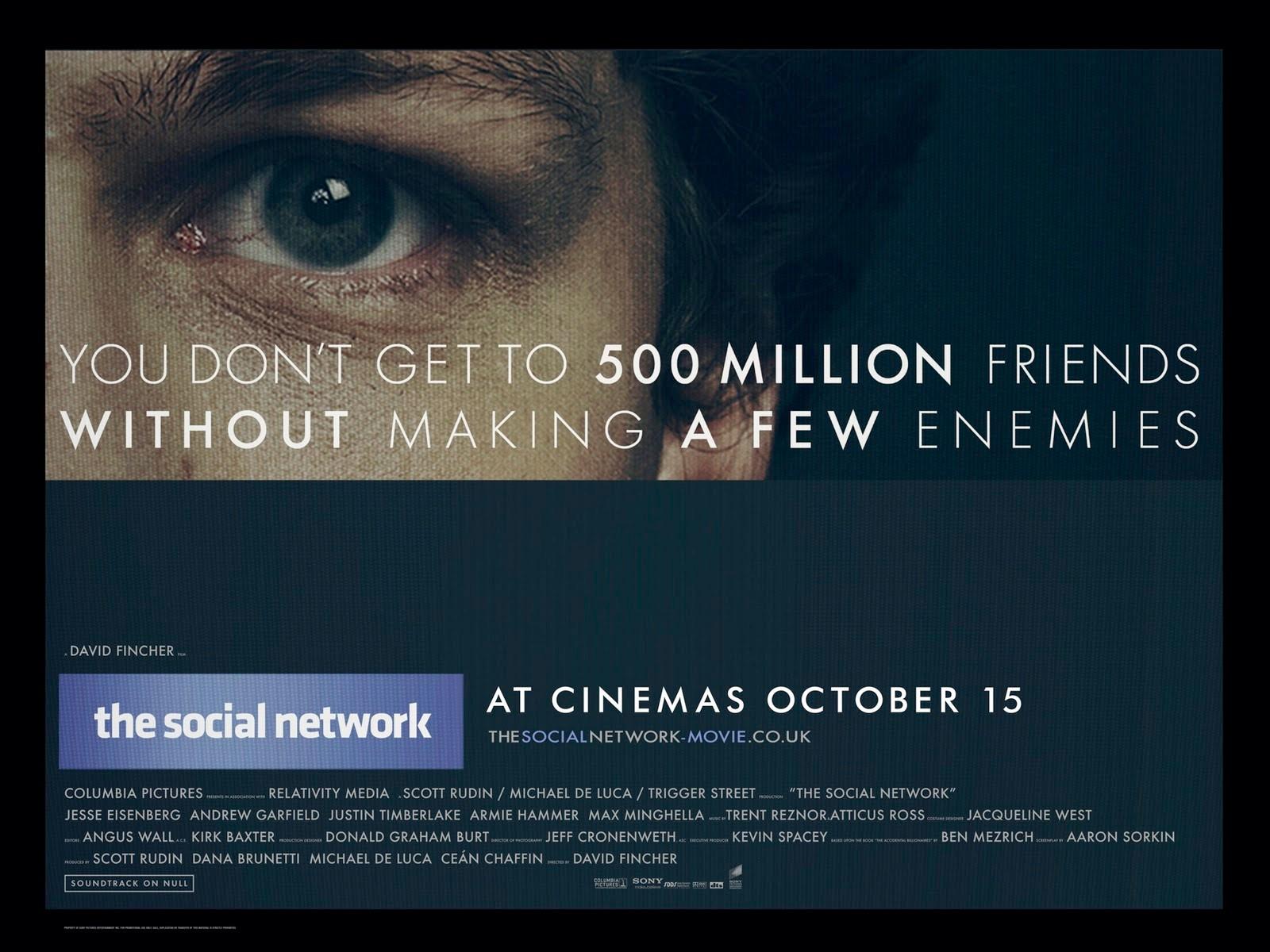 這部電影講述Facebook創辦人Mark Zuckerberg的創業故事。
