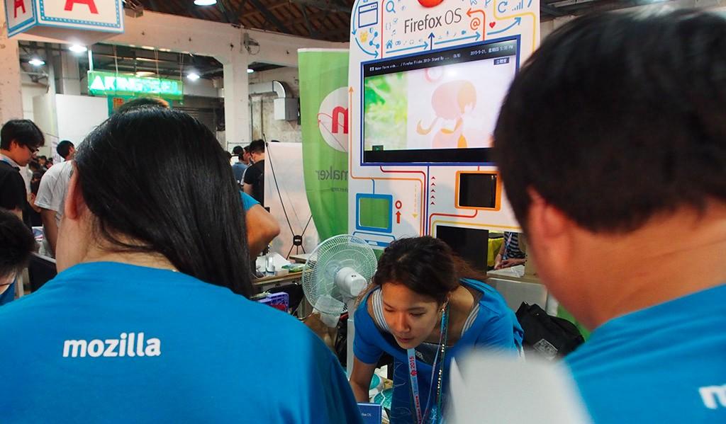 今年的Maker Faire首次見到Mozilla/Firefox的攤位出現,他們明確表示未來將投入更多與Maker串連的行動與資源。(攝影:歐敏銓)