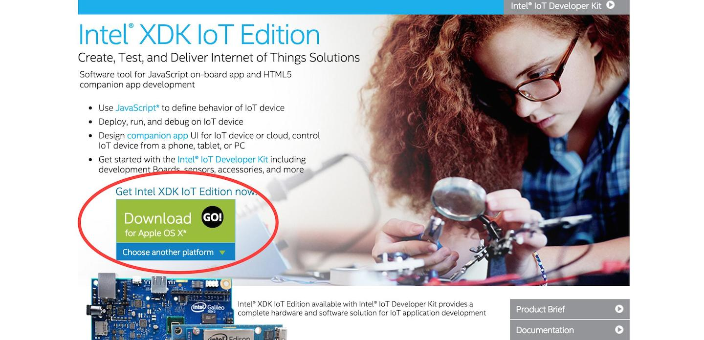 下載Intel XDK IoT Edition安裝檔