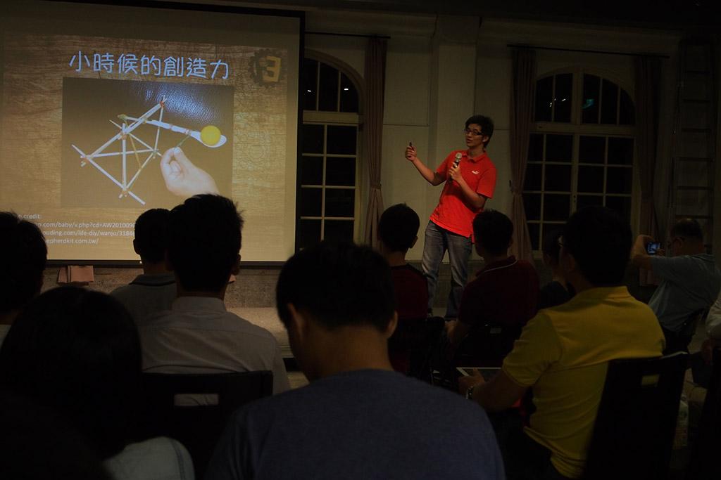 Michael希望將DIY的精神放進台灣的機器人教育中