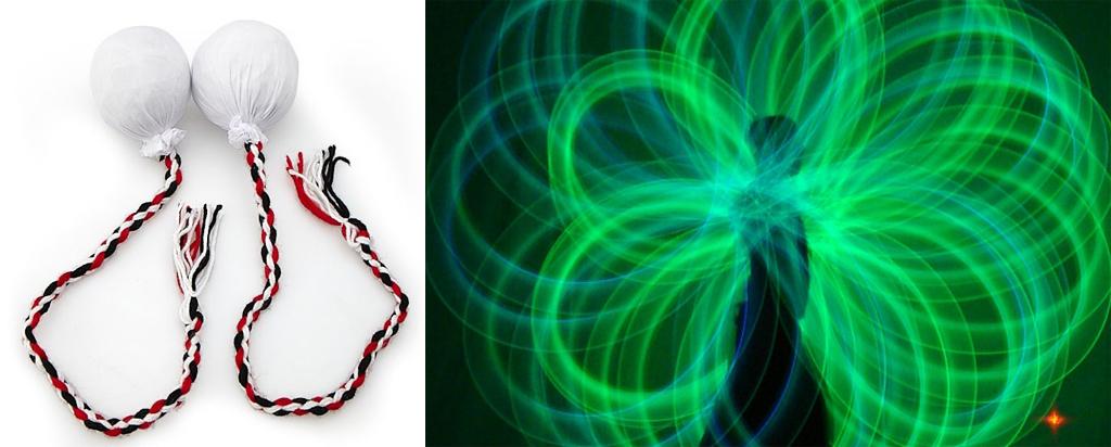 將傳統Poi小球換成LED燈後,成為一種視覺上的華麗藝術