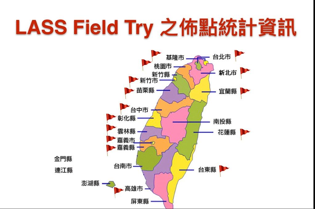 陳伶志分享LASS Field try之佈點統計資訊