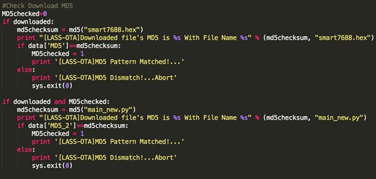 下載完後,直接用MD5碼來確認下載成功還是失敗