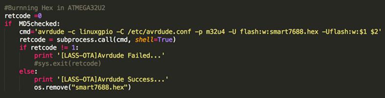 呼叫AVRDUDE來燒錄Arduino端