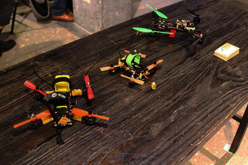 Aeroprobing 團隊於活動現場展示LDS250系列競速無人機