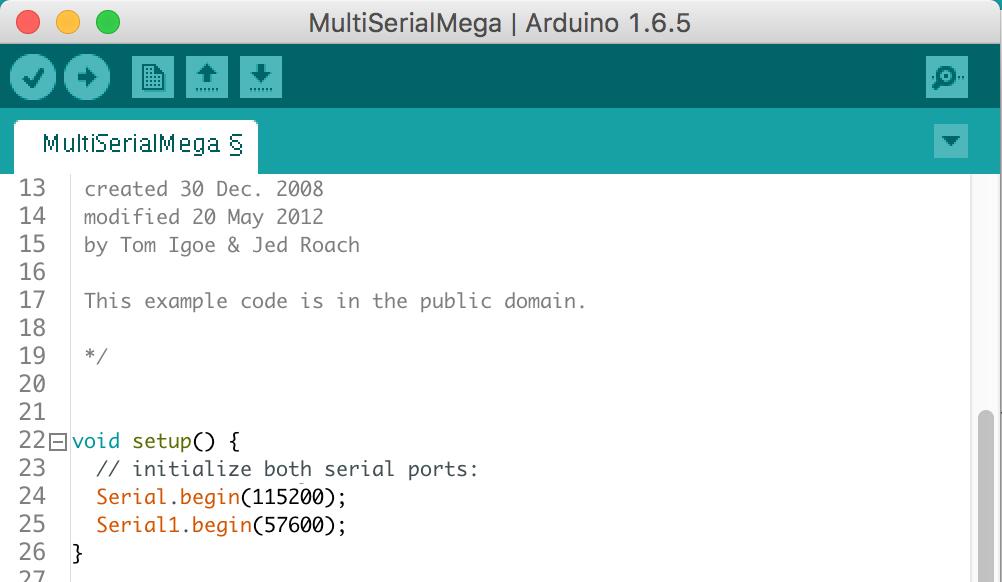 Arduino IDE 中 MultiserialMEGA