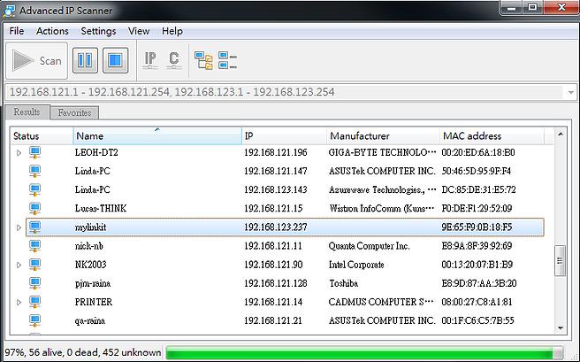 搜尋「IP Scanner」這類型的服務,查到IP