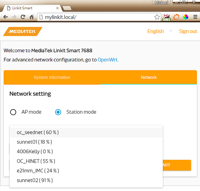在搜尋WiFi列表中,選取我們要連接上的無線網路