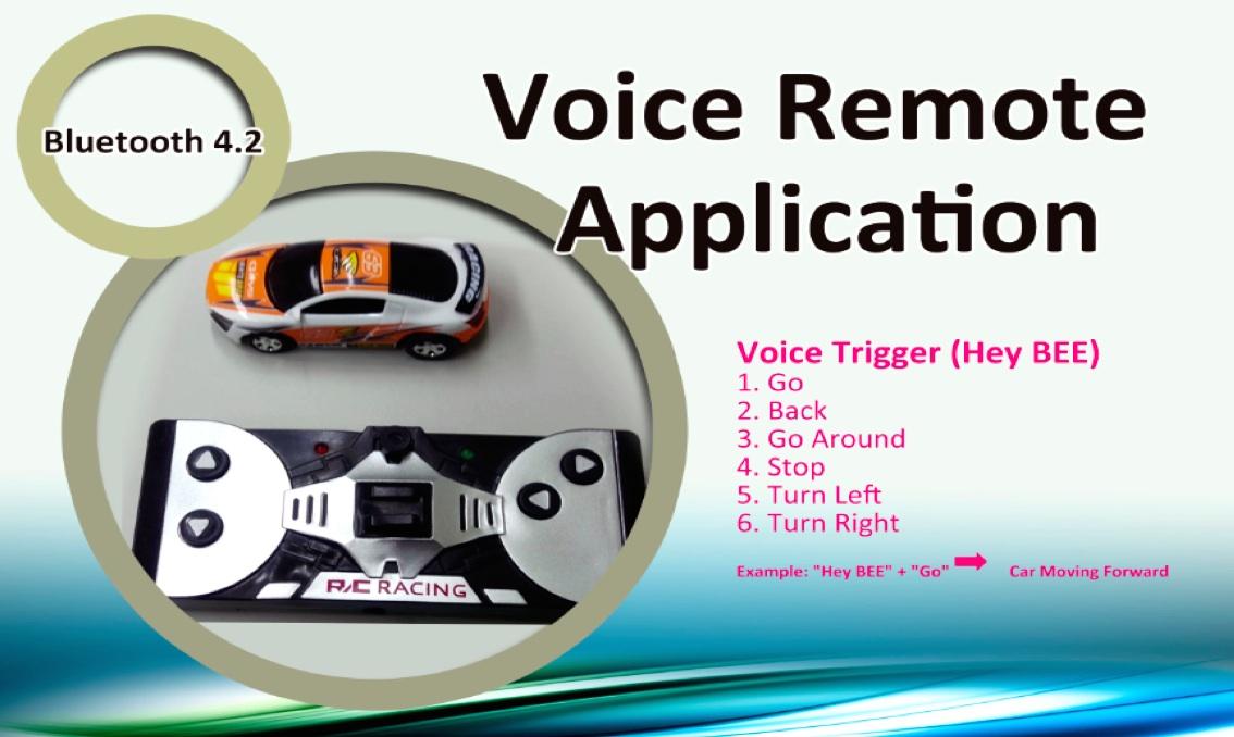 BEE讓玩家可透過語音搖控玩具車。