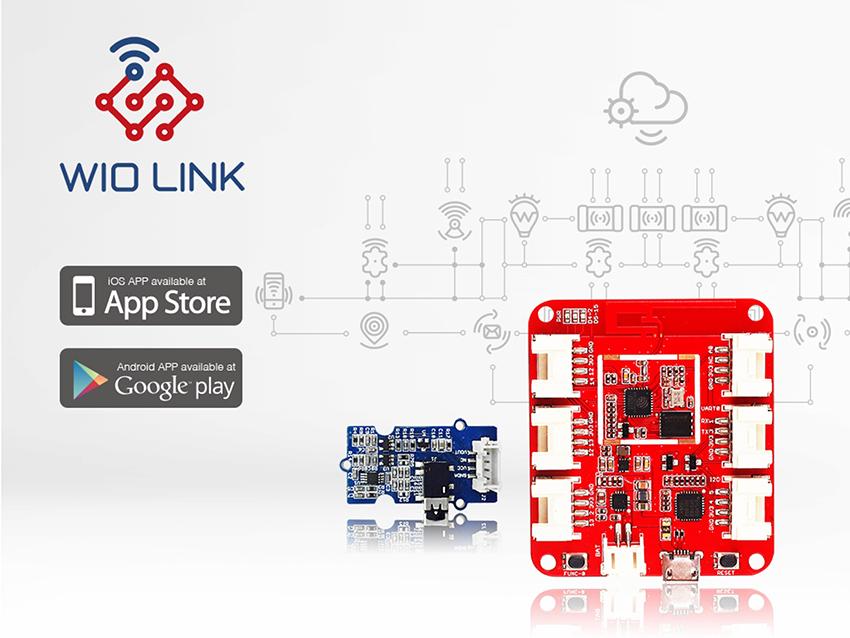 SeeedStduio於年初推出,以ESP8266為基礎的Wio Link開發板
