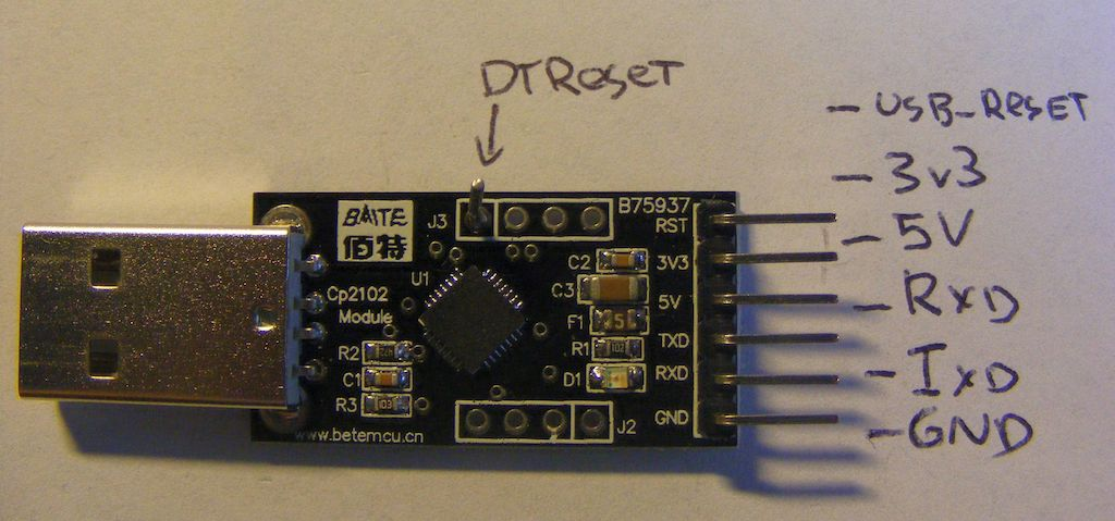 USB to UART connector