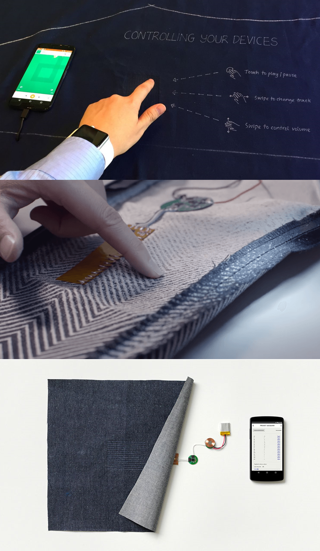 觸控布料讓牛仔褲成為新的互動介面