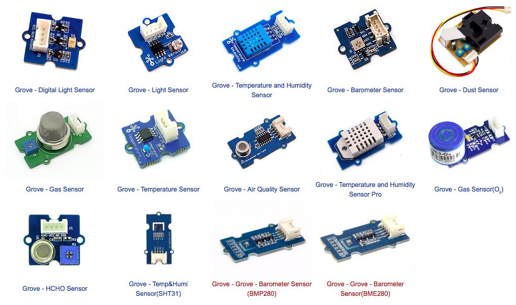 SeedStudio提出Grove系統,可模組化串連,圖為環境監控模組。