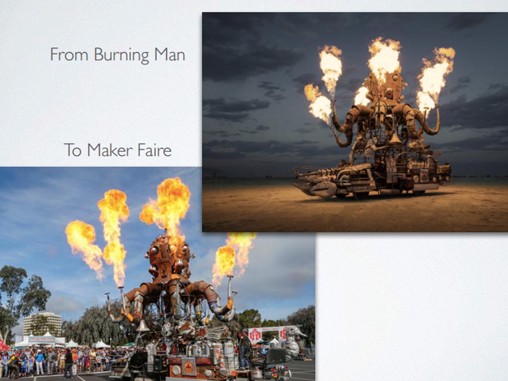 在Maker Faire也可以看到Burning Man作品了