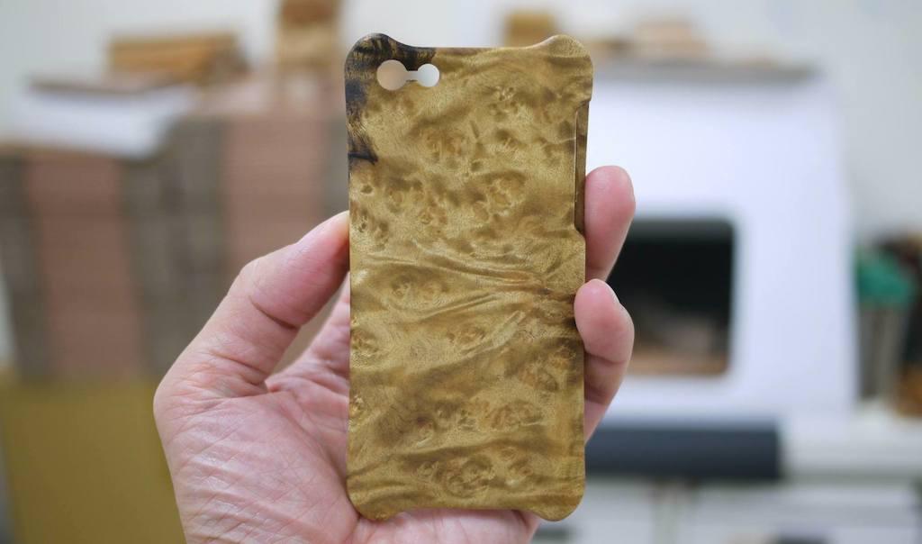 WKIDEA出品的手機木殻(圖片來源:WKIDEA)