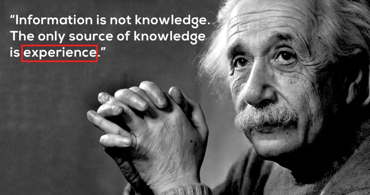 體驗是知識的來源
