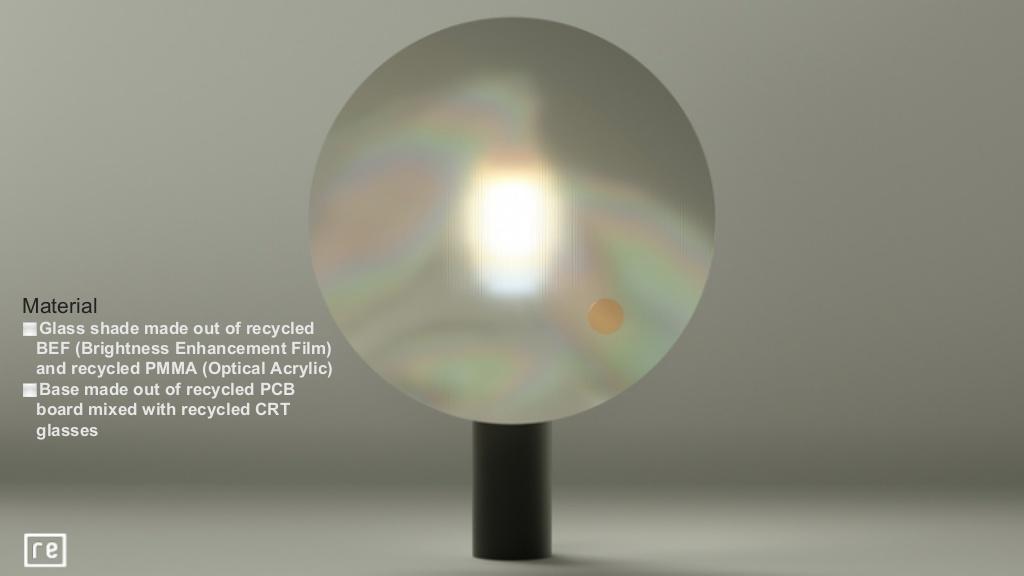 分別取出液晶面板的多層薄膜,做成不同效果的照明燈具