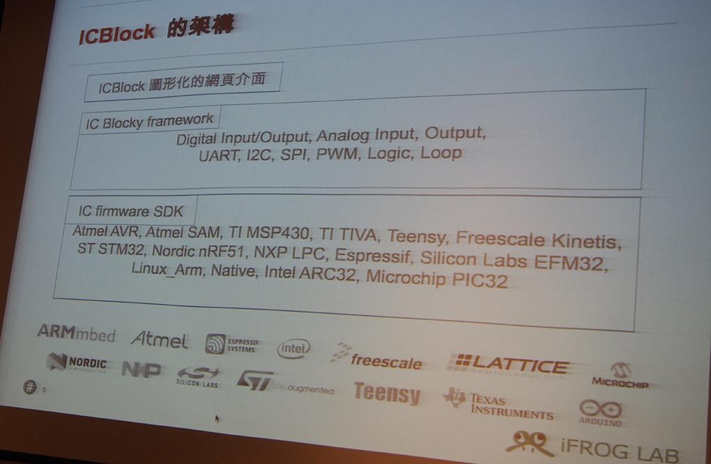 iFroglab開發的ICBlock IDE,廣泛支援各種平台。