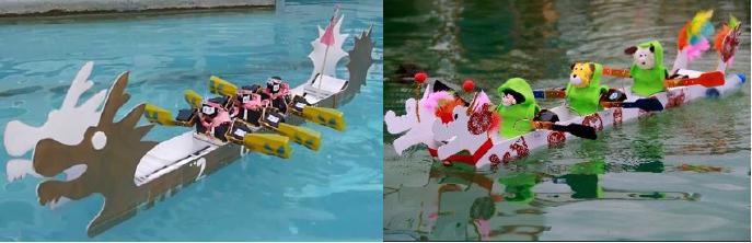 屏東縣政府主辦的機器人划龍舟比賽(利用數值操控)