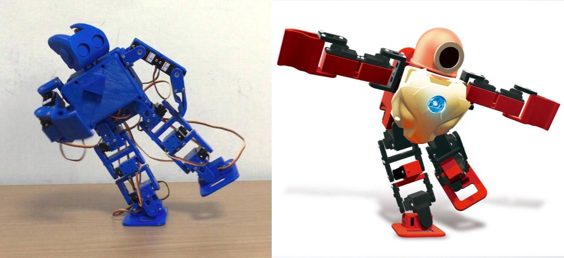社群版的miniPlan(左) vs. 消費版的Robohero(右)