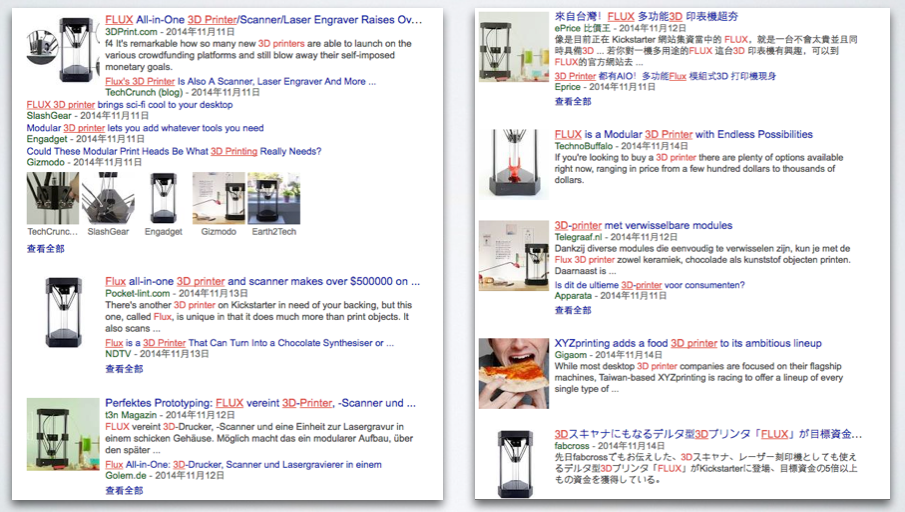 FLUX 3DP一上架即獲得歐美許多媒體的報導。