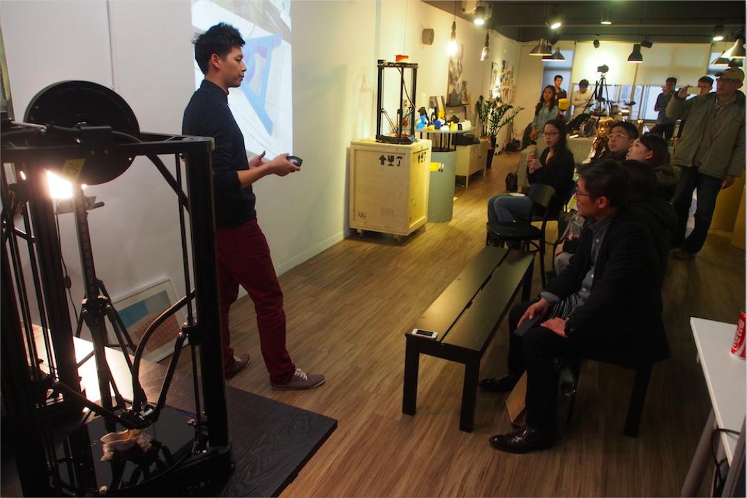 ATOM 3DP第二代募資後期時,在公司內舉辦記者說明會,為買氣再次加溫。