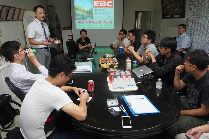 陳泳睿副總為大家介紹新呈工業的理念和產品