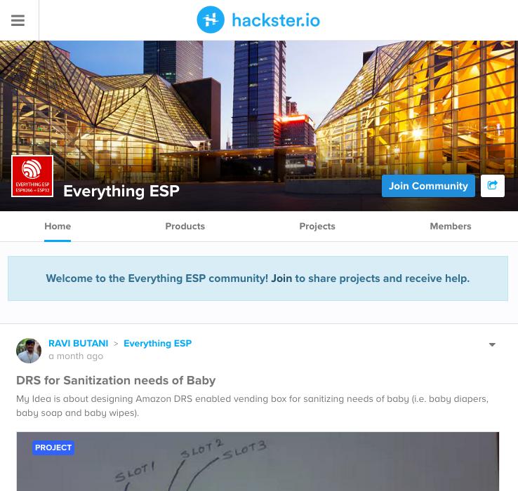 Hackster.io上的ESP專案區