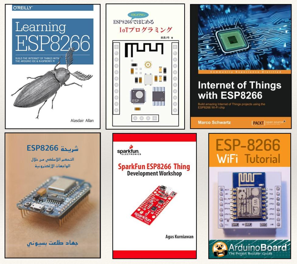 ESP8266相關的教學書已出了非常多本(製圖:MakerPRO)