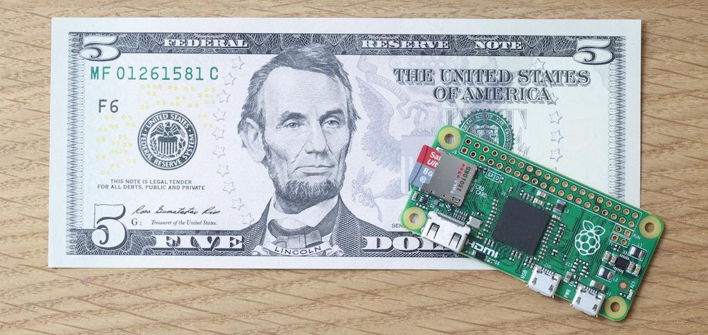5美元的Pi Zero一上市即造成轟動!