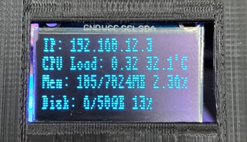 【CAVEDU講堂】在 OLED顯示Raspberry Pi4主機狀態訊息