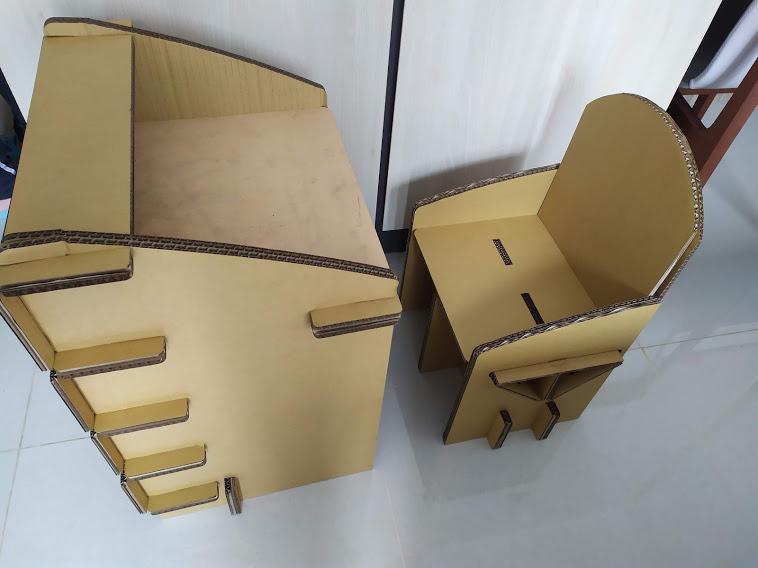 【文創設計】紙板再生!DIY 紙板兒童餐桌